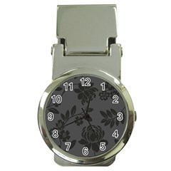 Flower Floral Rose Black Money Clip Watches by Mariart