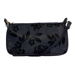 Flower Floral Rose Black Shoulder Clutch Bags by Mariart