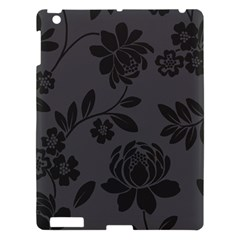 Flower Floral Rose Black Apple Ipad 3/4 Hardshell Case by Mariart