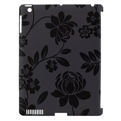 Flower Floral Rose Black Apple Ipad 3/4 Hardshell Case (compatible With Smart Cover) by Mariart