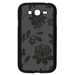 Flower Floral Rose Black Samsung Galaxy Grand Duos I9082 Case (black) by Mariart