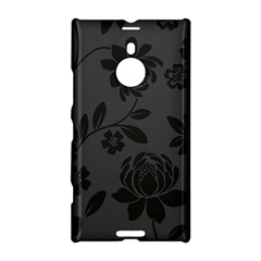 Flower Floral Rose Black Nokia Lumia 1520 by Mariart