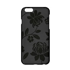 Flower Floral Rose Black Apple Iphone 6/6s Hardshell Case by Mariart