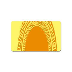 Greek Ornament Shapes Large Yellow Orange Magnet (name Card) by Mariart