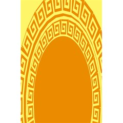Greek Ornament Shapes Large Yellow Orange 5 5  X 8 5  Notebooks by Mariart