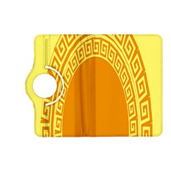 Greek Ornament Shapes Large Yellow Orange Kindle Fire Hd (2013) Flip 360 Case by Mariart