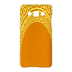 Greek Ornament Shapes Large Yellow Orange Samsung Galaxy A5 Hardshell Case  by Mariart