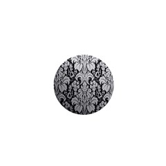 Flower Floral Grey Black Leaf 1  Mini Buttons by Mariart