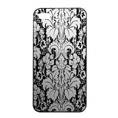 Flower Floral Grey Black Leaf Apple Iphone 4/4s Seamless Case (black) by Mariart