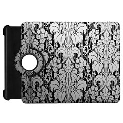 Flower Floral Grey Black Leaf Kindle Fire Hd 7  by Mariart