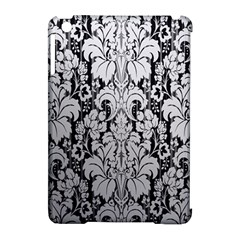Flower Floral Grey Black Leaf Apple Ipad Mini Hardshell Case (compatible With Smart Cover) by Mariart