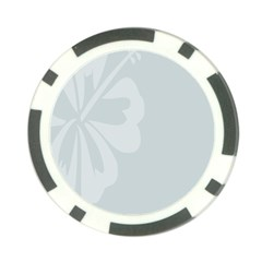 Hibiscus Sakura Glacier Gray Poker Chip Card Guard by Mariart