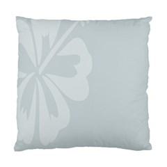 Hibiscus Sakura Glacier Gray Standard Cushion Case (one Side) by Mariart