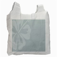 Hibiscus Sakura Glacier Gray Recycle Bag (two Side)  by Mariart