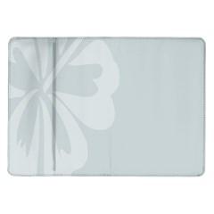 Hibiscus Sakura Glacier Gray Samsung Galaxy Tab 10 1  P7500 Flip Case by Mariart