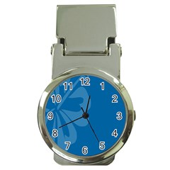 Hibiscus Sakura Classic Blue Money Clip Watches by Mariart