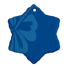 Hibiscus Sakura Classic Blue Snowflake Ornament (two Sides) by Mariart