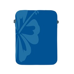 Hibiscus Sakura Classic Blue Apple Ipad 2/3/4 Protective Soft Cases by Mariart