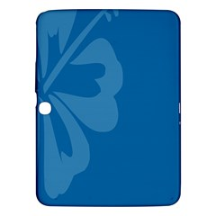 Hibiscus Sakura Classic Blue Samsung Galaxy Tab 3 (10 1 ) P5200 Hardshell Case  by Mariart