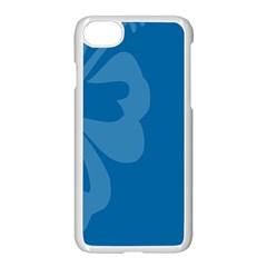Hibiscus Sakura Classic Blue Apple Iphone 7 Seamless Case (white) by Mariart