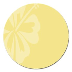 Hibiscus Custard Yellow Magnet 5  (round) by Mariart