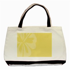 Hibiscus Custard Yellow Basic Tote Bag by Mariart
