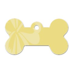 Hibiscus Custard Yellow Dog Tag Bone (two Sides) by Mariart