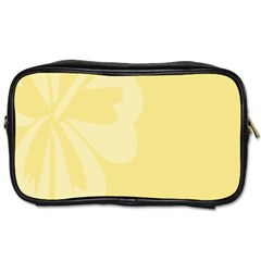Hibiscus Custard Yellow Toiletries Bags 2 Side by Mariart