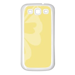 Hibiscus Custard Yellow Samsung Galaxy S3 Back Case (white) by Mariart