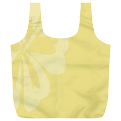 Hibiscus Custard Yellow Full Print Recycle Bags (l)  by Mariart