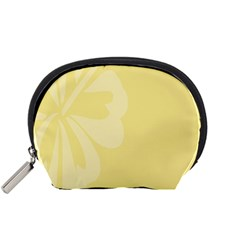 Hibiscus Custard Yellow Accessory Pouches (small)  by Mariart