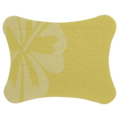 Hibiscus Custard Yellow Jigsaw Puzzle Photo Stand (bow) by Mariart