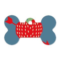 Fruit Red Strawberry Dog Tag Bone (one Side) by Mariart