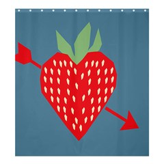 Fruit Red Strawberry Shower Curtain 66  X 72  (large)  by Mariart