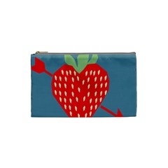 Fruit Red Strawberry Cosmetic Bag (small)  by Mariart