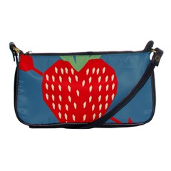 Fruit Red Strawberry Shoulder Clutch Bags by Mariart