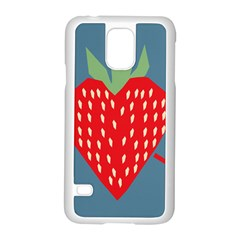 Fruit Red Strawberry Samsung Galaxy S5 Case (white) by Mariart
