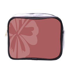 Hibiscus Sakura Red Mini Toiletries Bags by Mariart