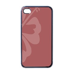 Hibiscus Sakura Red Apple Iphone 4 Case (black) by Mariart