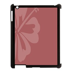 Hibiscus Sakura Red Apple Ipad 3/4 Case (black) by Mariart