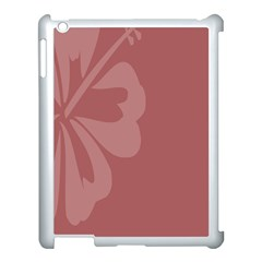 Hibiscus Sakura Red Apple Ipad 3/4 Case (white) by Mariart