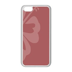 Hibiscus Sakura Red Apple Iphone 5c Seamless Case (white) by Mariart