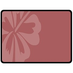 Hibiscus Sakura Red Double Sided Fleece Blanket (large)  by Mariart