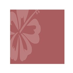 Hibiscus Sakura Red Small Satin Scarf (square) by Mariart
