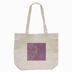 Hibiscus Sakura Lavender Herb Purple Tote Bag (cream) by Mariart