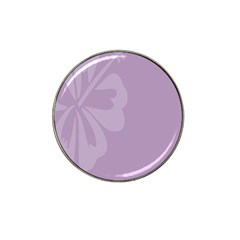 Hibiscus Sakura Lavender Herb Purple Hat Clip Ball Marker (10 Pack) by Mariart