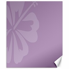 Hibiscus Sakura Lavender Herb Purple Canvas 8  X 10  by Mariart