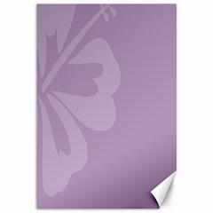 Hibiscus Sakura Lavender Herb Purple Canvas 12  X 18   by Mariart