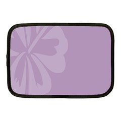 Hibiscus Sakura Lavender Herb Purple Netbook Case (medium)  by Mariart