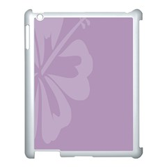 Hibiscus Sakura Lavender Herb Purple Apple Ipad 3/4 Case (white) by Mariart